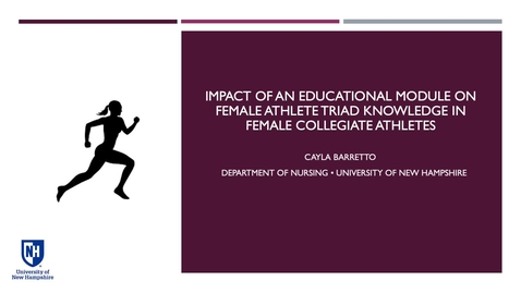 Thumbnail for entry The Impact of an Educational Module on Female Athlete Triad Knowledge in Female Collegiate Athletes