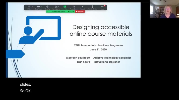 Thumbnail for channel Accessible Course Materials - Training and Support