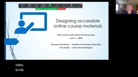 Thumbnail for entry Designing Accessible Online Course Materials (CC)