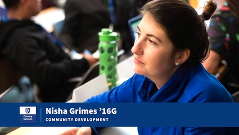 Thumbnail for entry From Peace Corps Volunteer to Carsey School Alumni: Nisha Grimes '16G