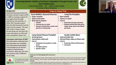 Thumbnail for entry ECOG-Assessing Market Viability of Heirloom Vegetables Through Farmer and Chef Collaboration