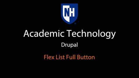 Thumbnail for entry Drupal: Flex List Full Button