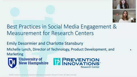 Thumbnail for entry Best Practices in Social Media Engagement & Measurement for Research Centers
