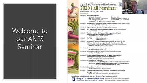 Thumbnail for entry ANFS Seminar: 14 Sept 2020 - Exploring Our Facilities