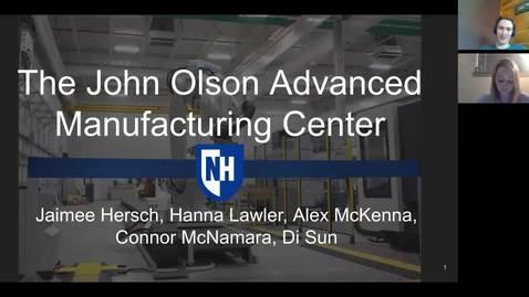 Thumbnail for entry 2020 URC - John Olson Advanced Manufacturing Center.mp4