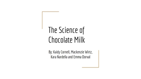 Thumbnail for entry The Science of Chocolate Milk