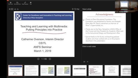 Thumbnail for entry ANFS Seminar: Catherine Overson, 1 Mar 2019