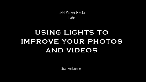 Thumbnail for entry Lights available at the Parker Media Lab