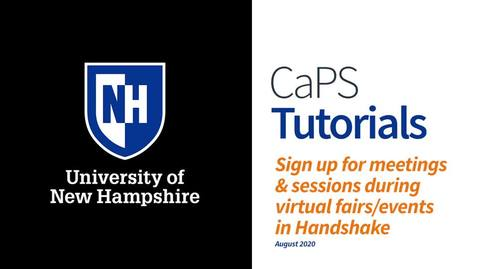 Thumbnail for entry How To: Student Registration & Sign Up for Sessions in Virtual Career Events in Handshake