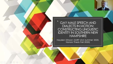 Thumbnail for entry Gay Males Speech and Dialects in Motion: Constructing Linguistic Identity in Southern New Hampshire