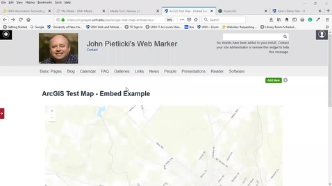 Thumbnail for entry myPages - Embed ArcGIS Map Into Basic Page