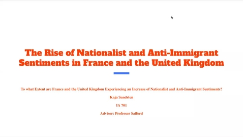 Thumbnail for entry The Rise of Anti-Immigrant and Nationalist Sentiments in France and the United Kingdom