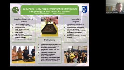 Thumbnail for entry ECOG-Happy Plants Happy People: Building a Horticultural Therapy Program with UNH Health and Wellness