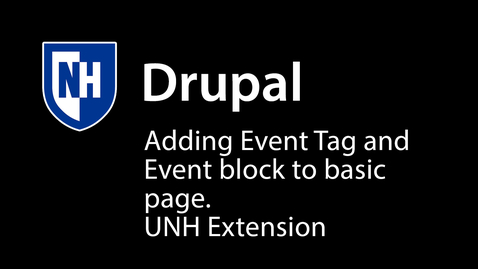 Thumbnail for entry Adding Event Tag, setting up Event Block with view more link