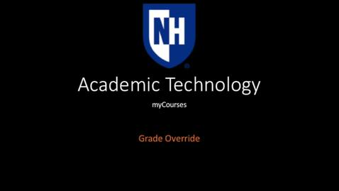 Thumbnail for entry myCourses Grade override