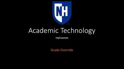 Thumbnail for entry myCourses Grade override