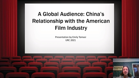 Thumbnail for entry A Global Audience: China's Relationship with the American Film Industry