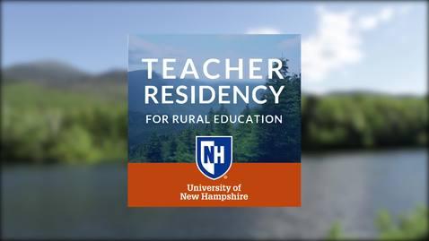 UNH Teacher Residency for Rural Education - Aidan's Story