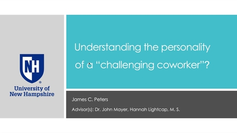 """Thumbnail for entry Understanding the personality of a """"challenging coworker""""?"""