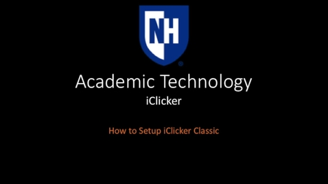 Thumbnail for entry iClicker - How to set up iClicker