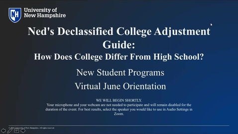 Thumbnail for entry **Ned's Declassified College Adjustment Guide: How Does College Differ from High School?