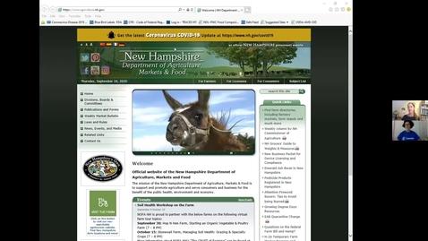 Thumbnail for entry New Farmer School 2020 with Jennifer Gornnert, Div of Regulatory Services