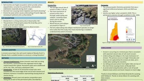Thumbnail for entry Assessing Salt Marsh Resilience at Moody Point, Great Bay Estuary, NH: Natalie White