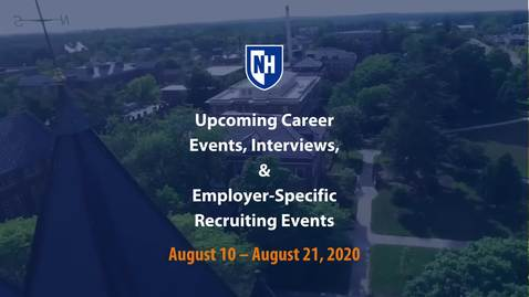 Thumbnail for entry Upcoming Employer Events August 10 - 21, 2020