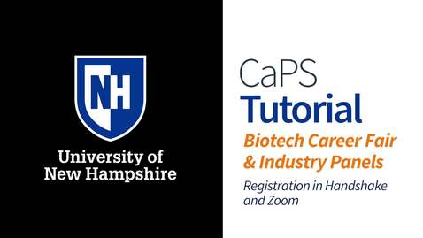 Thumbnail for entry How To: Virtual Biotech Career Fair and Industry Panels Registration