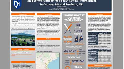 Thumbnail for entry The Economic Impact of a Youth Softball Tournament in Conway NH and Fryeburg ME