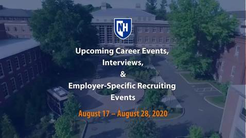 Thumbnail for entry Upcoming Career Events August 17 - 28, 2020