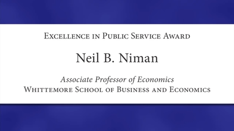 Thumbnail for entry Neil Niman 2012 Faculty Excellence