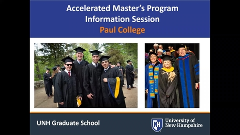 Thumbnail for entry PAUL College - Accelerated Master's Programs