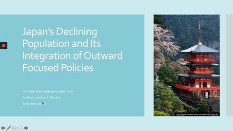 Thumbnail for entry Japan's Declining Population and Its Integration of Outward Focused Policies