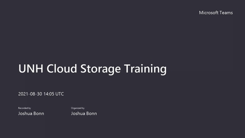 Thumbnail for entry USNH Cloud Storage Training - 8_30