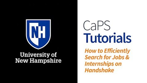 Thumbnail for entry How to Efficiently Search for Jobs and Internships on Handshake