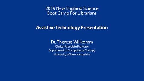 Thumbnail for entry Assistive Technology Presentation: Willkomm