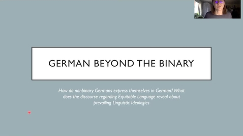 Thumbnail for entry German: Beyond the Binary