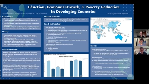 Thumbnail for entry The Impacts of Education on Economic Growth and Poverty Reduction in Developing Countries