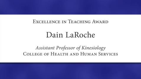 Thumbnail for entry Dain LaRoche Faculty Excellence 2012