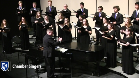 Thumbnail for entry UNH Chamber Singers, O Magnum Mysterium - F. Pouenc