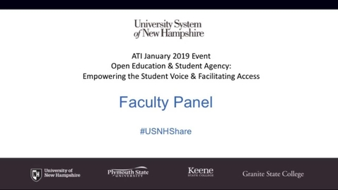 Thumbnail for entry faculty panel