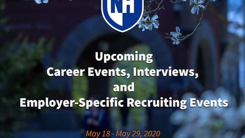 Thumbnail for entry UNH Online Career Events May 18 - May 29
