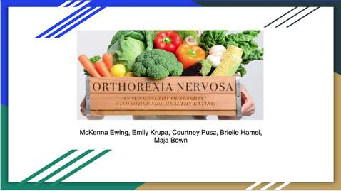 Thumbnail for entry Orthorexia Nervosa