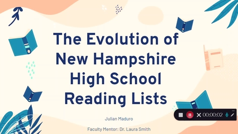 Thumbnail for entry The Evolution of Assigned Reading: The Diversity in New Hampshire High School Reading and Student Reading Engagement