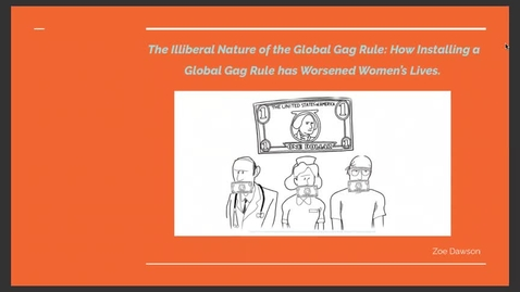 Thumbnail for entry The Illiberal Nature of the Global Gag Rule