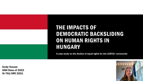Thumbnail for entry A Changing Political System: Democratic Backsliding and its Effects on Human Rights in Hungary