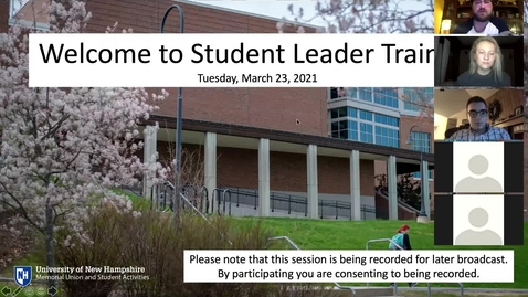 Thumbnail for entry StudentLeaderTraining
