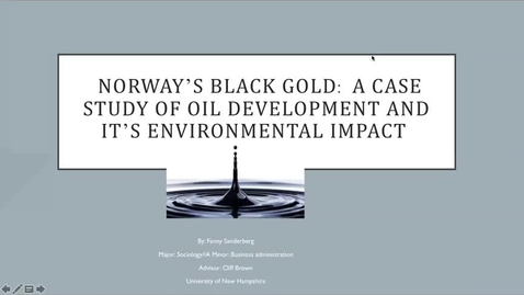 Thumbnail for entry Norway`s black gold: A case study of oil development and it`s enviromental impact