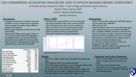 Thumbnail for entry HONORS.Can Fundamental Accounting Analyses be used to Explain Macroeconomic Conditions?